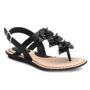 B.O.C Showers Floral Black Sandal